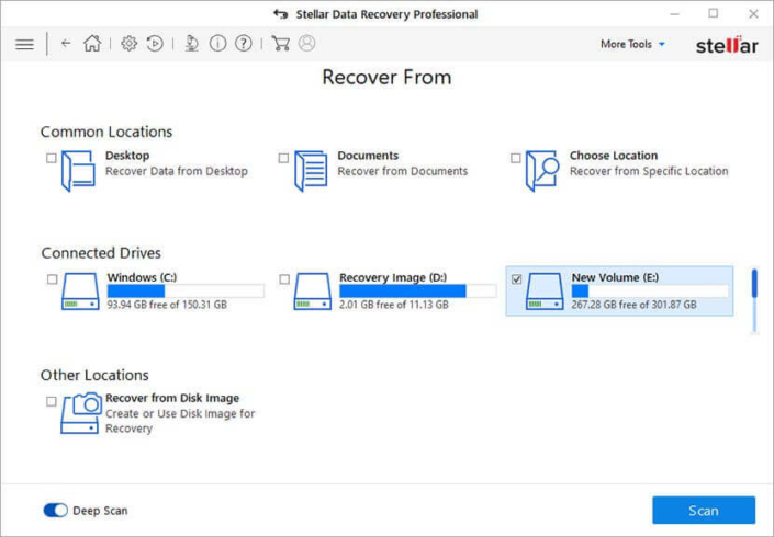 distribuidor Stellar Data Recovery Professional Windows
