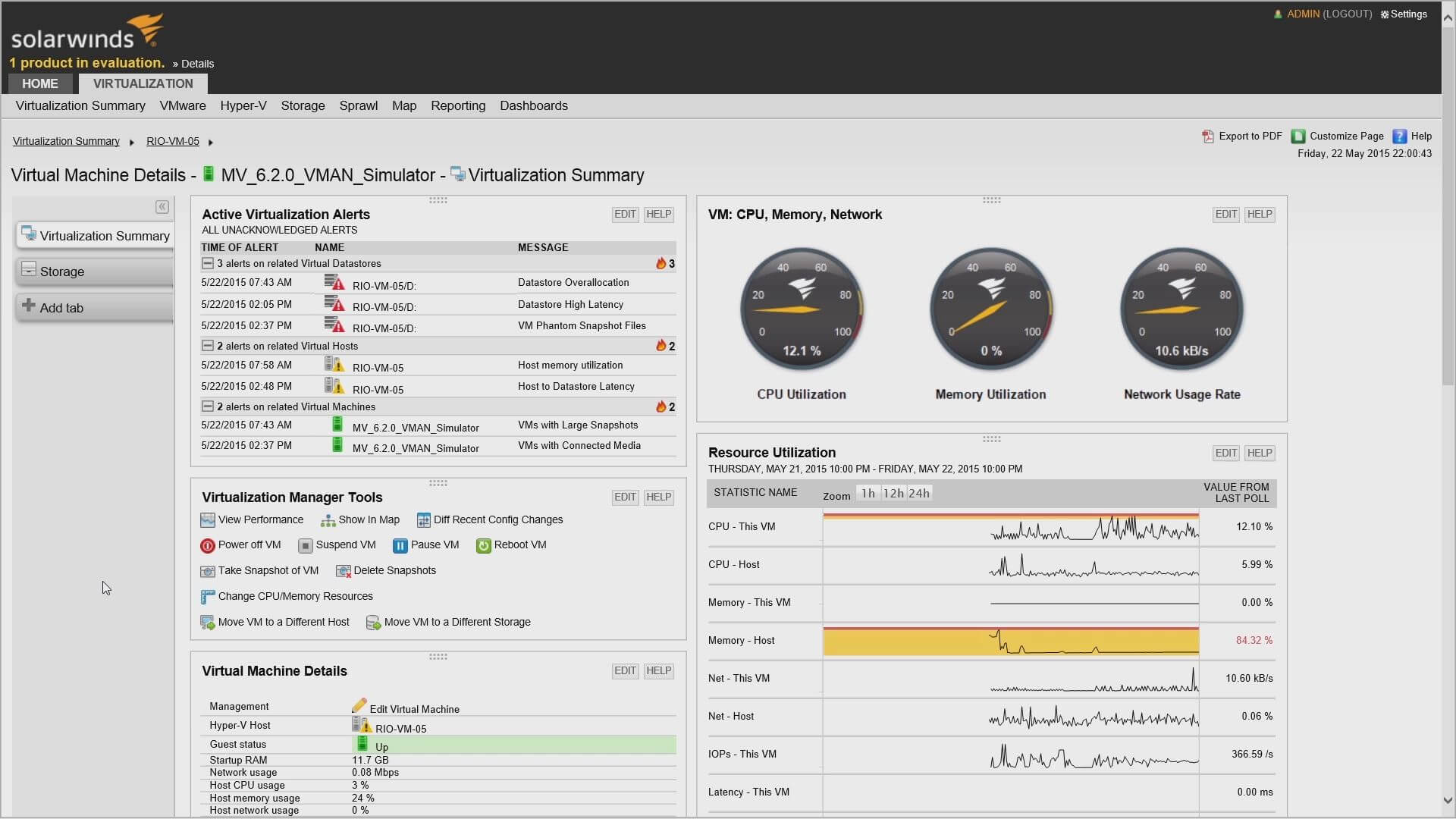 solarwinds software Virtualization Manager (VMAN)
