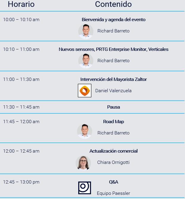 agenda conferencia partners paessler zaltor